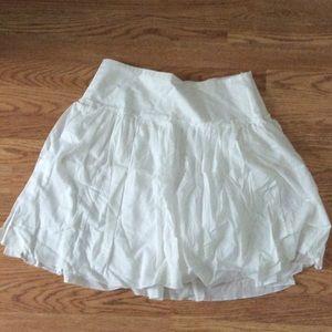 Gap white cotton skirt